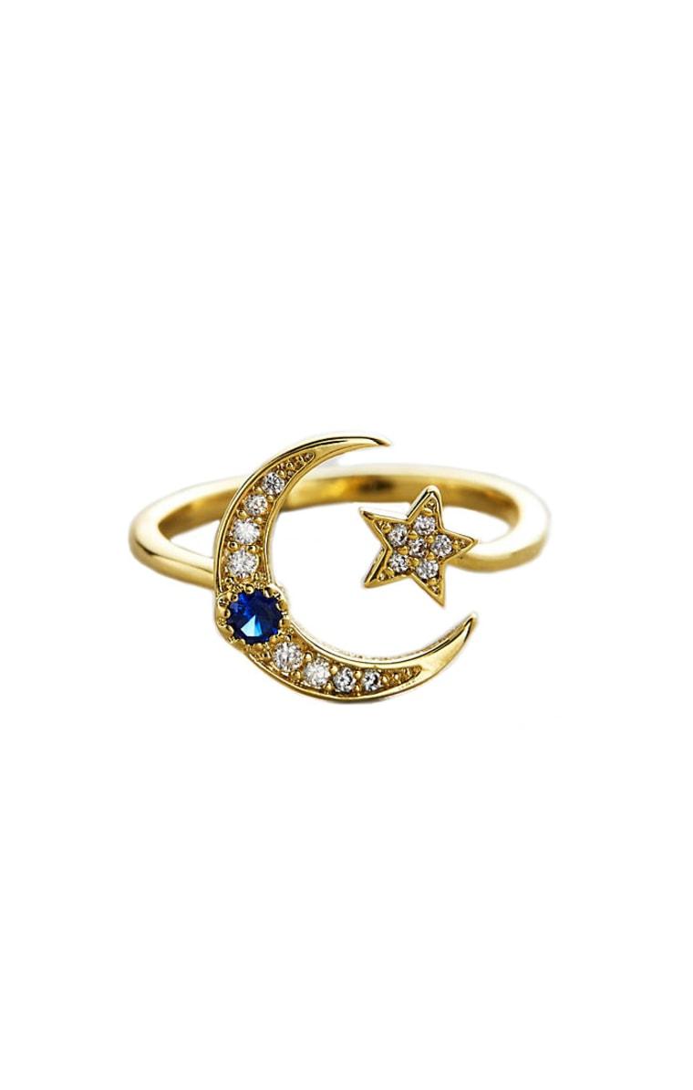 Tai Star and Moon ring