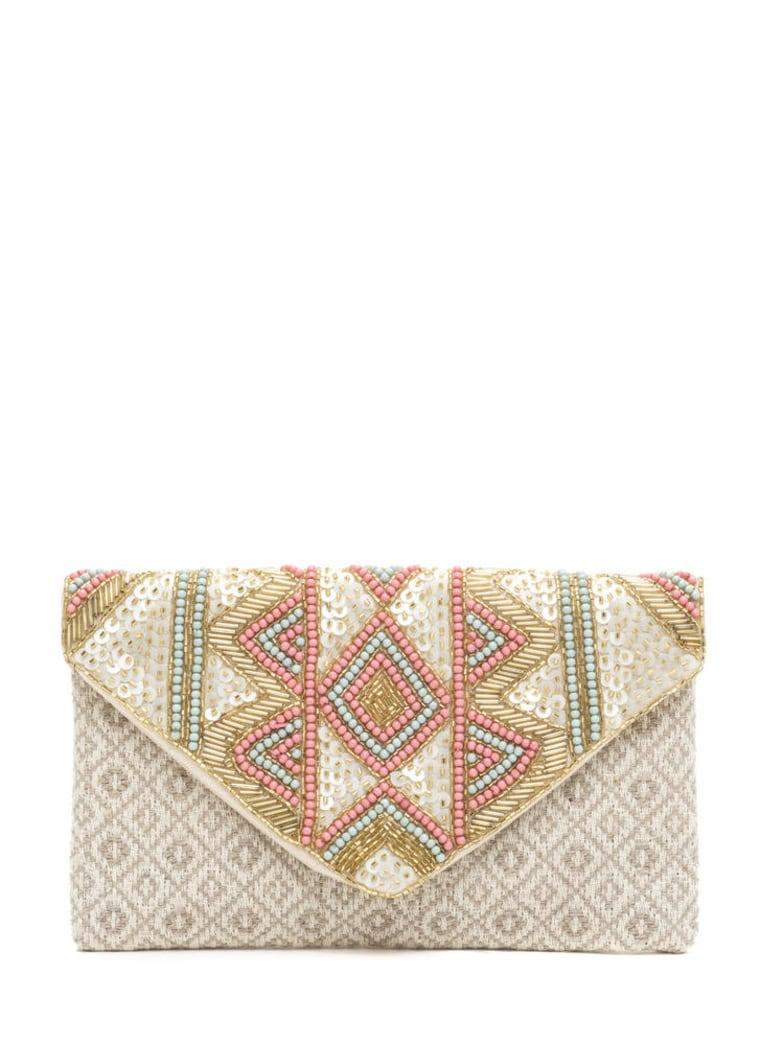 Textured Beauty Beaded Woven Clutch