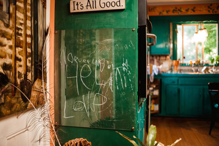 """When Jesse's mom came home from the tragedy at his school, she found his last message to her: the words """"Nurturing Healing Love"""" written on the chalkboard in her kitchen."""