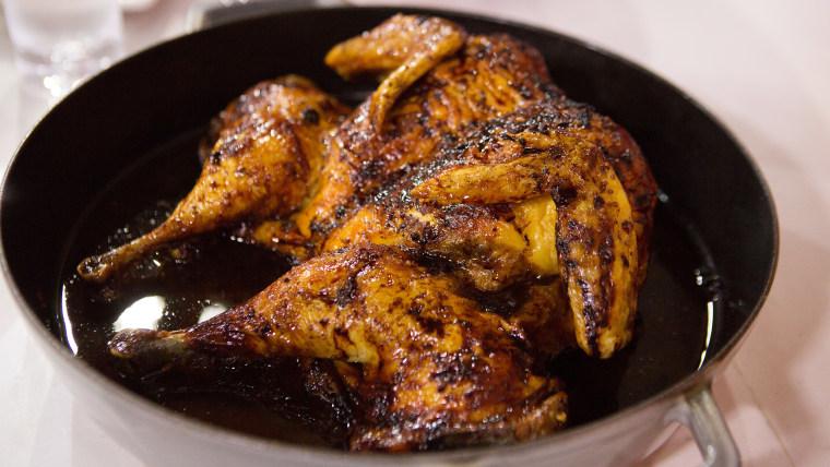 Sunny Anderson's OJ BBQ Butterflied Chicken