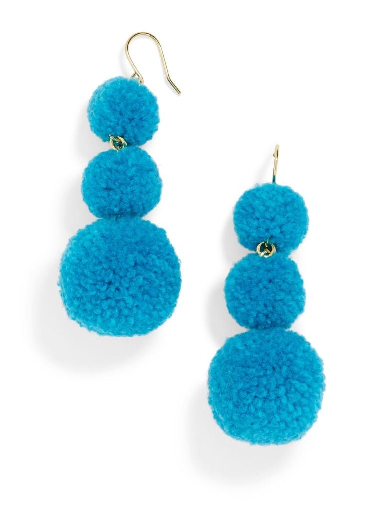 BaubleBar pom pom crispin earrings