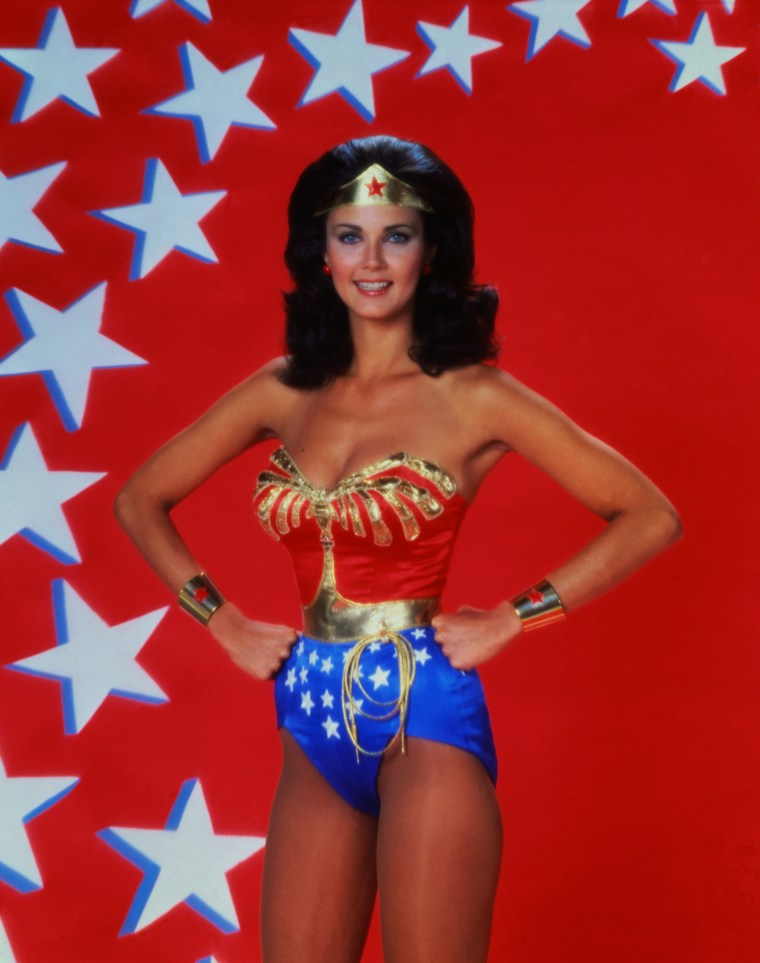 Actress Lynda Carter as Wonder Woman