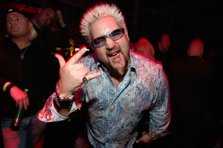 Guy Fieri's frosted tips
