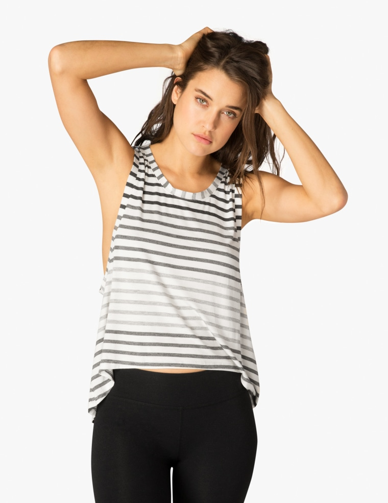 Bring It Ommmbre Striped Muscle Tank
