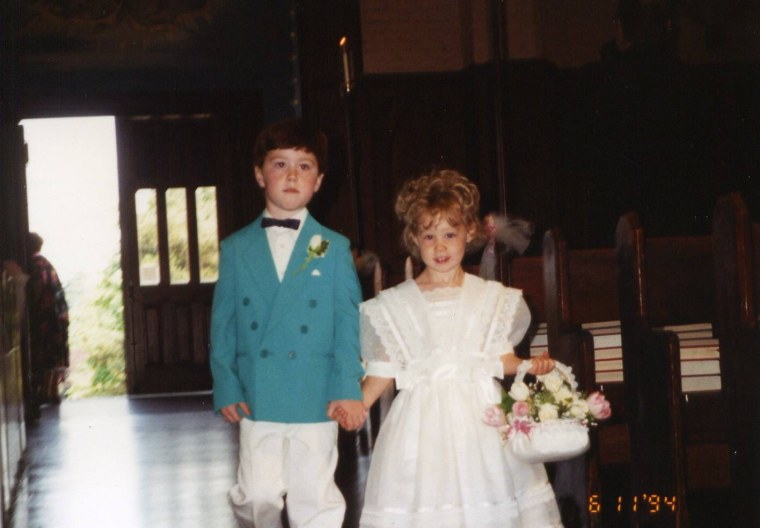This wasn't Patrick Casey's first time down the aisle.
