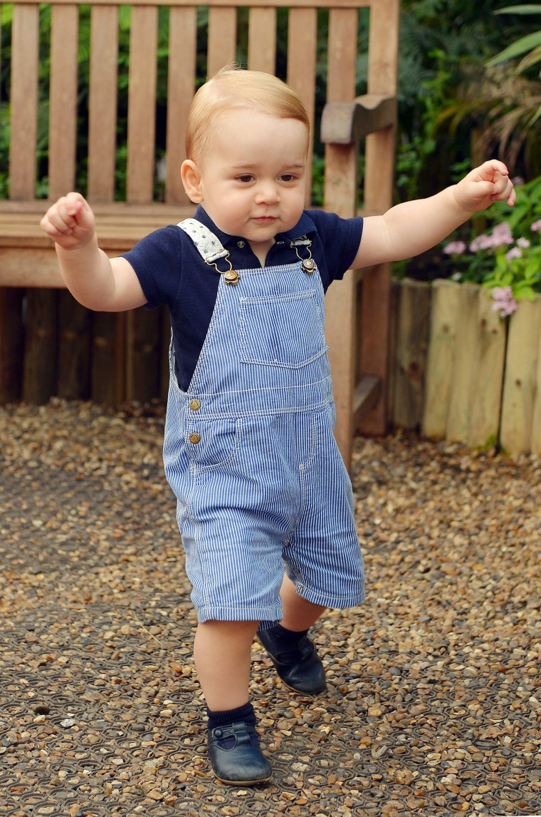Image: Prince George Of Cambridge First Birthday