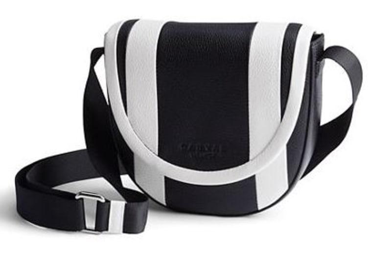 Women's Pebbled Leather Crossbody Saddle Bag