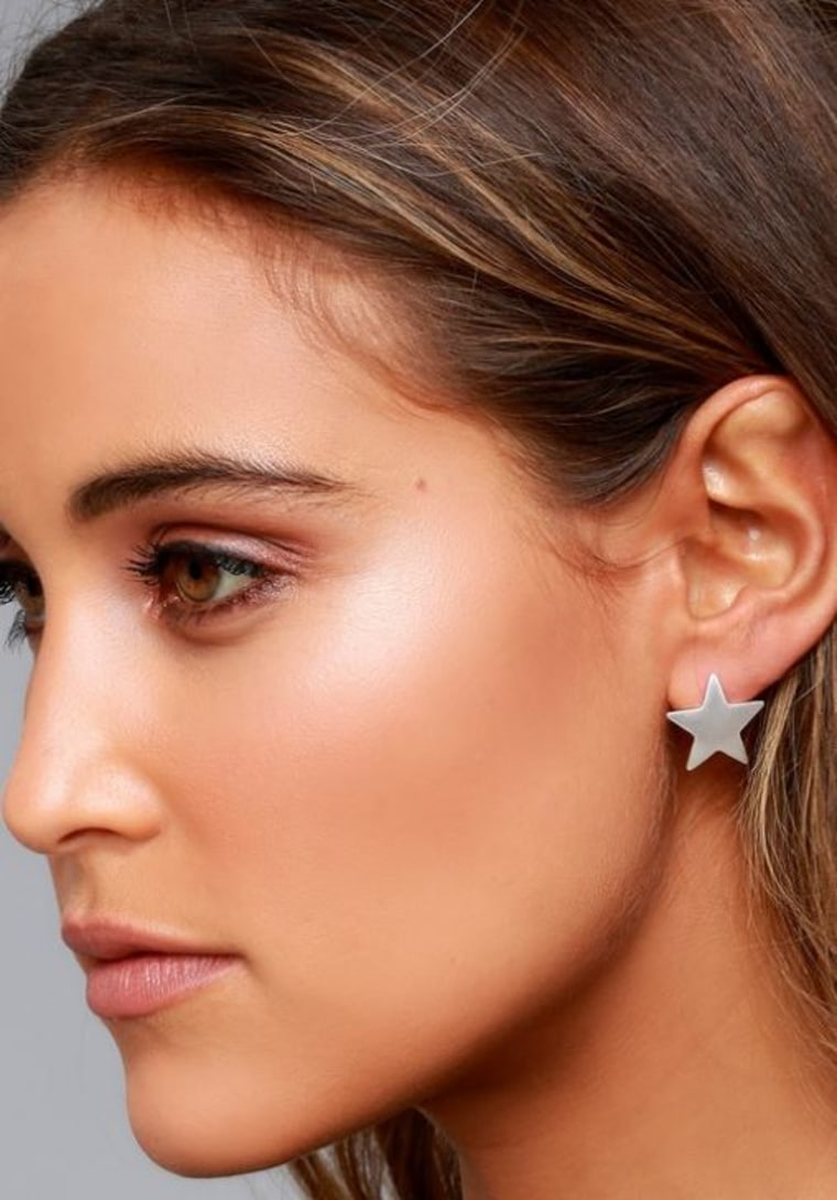 Well-Known Silver Star Earrings