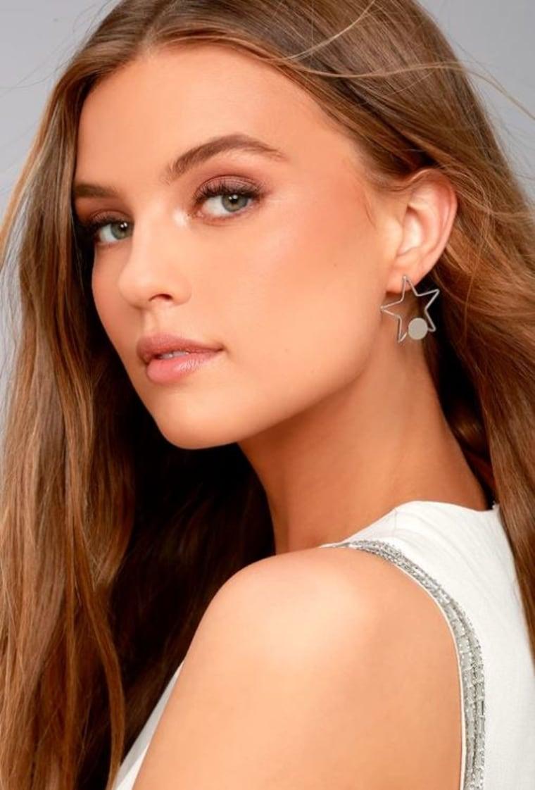Pizzazz Silver Star Earrings