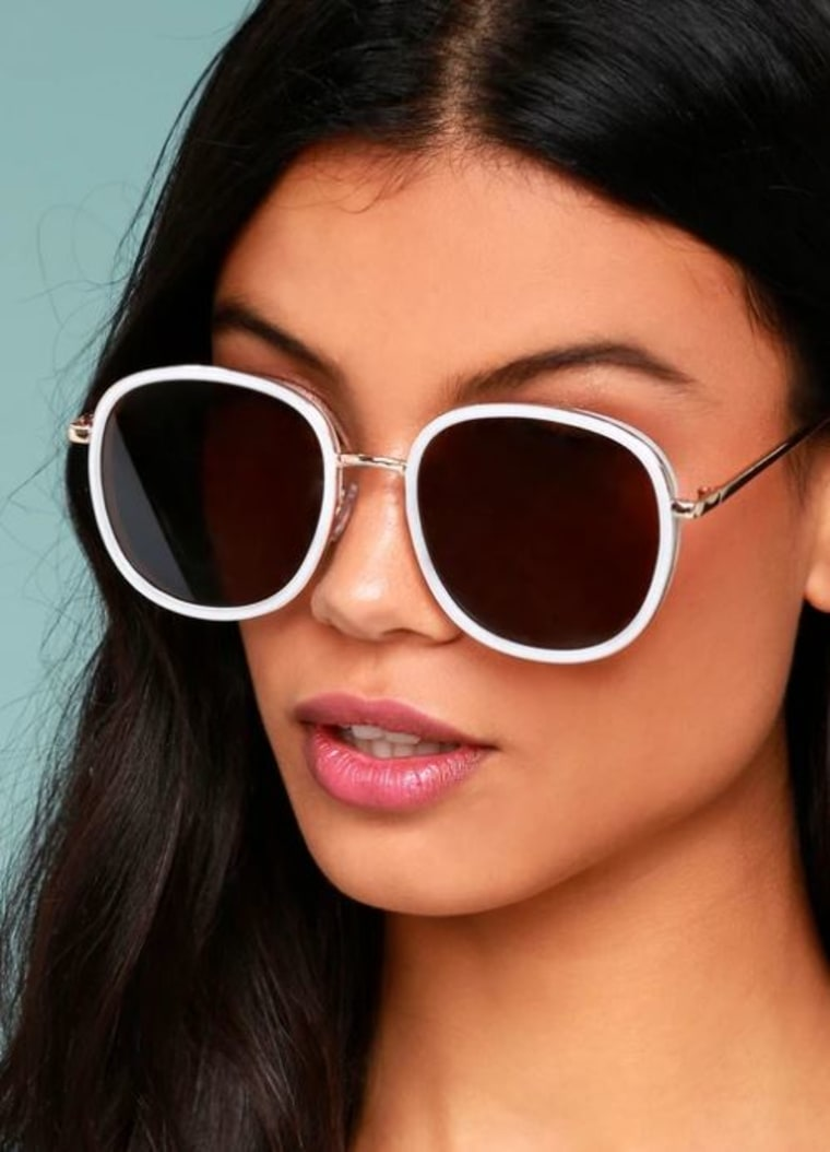 Disco Queen White and Black Sunglasses