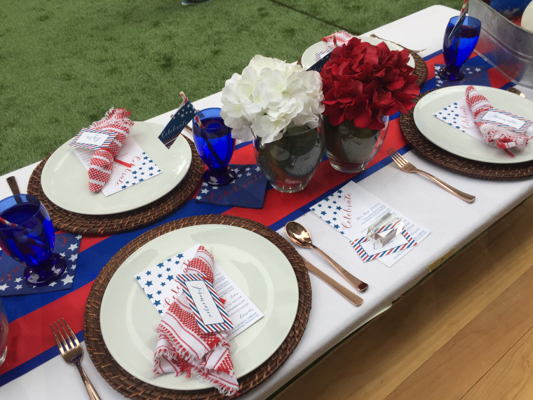 Personal touches like menu cards make this table stand out.