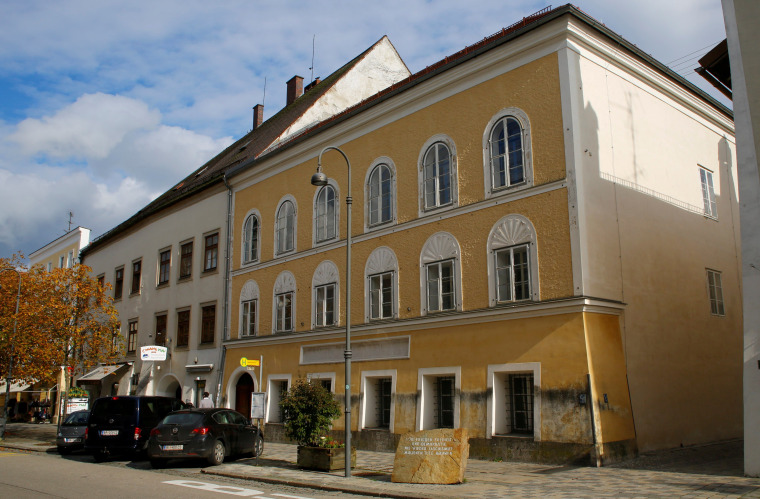 Image: The house in which Adolf Hitler was born is seen in Braunau am Inn
