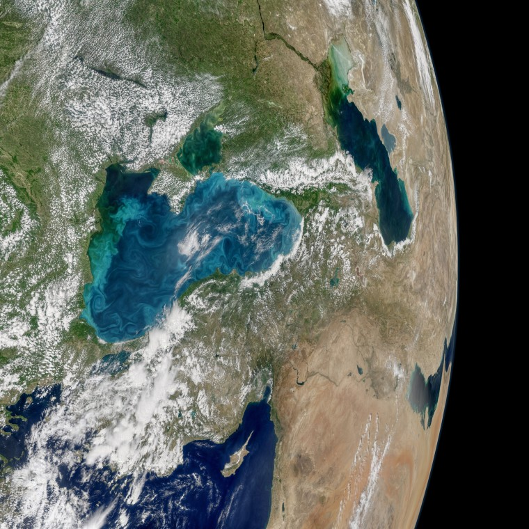 Image: Turquoise swirls in the Black Sea