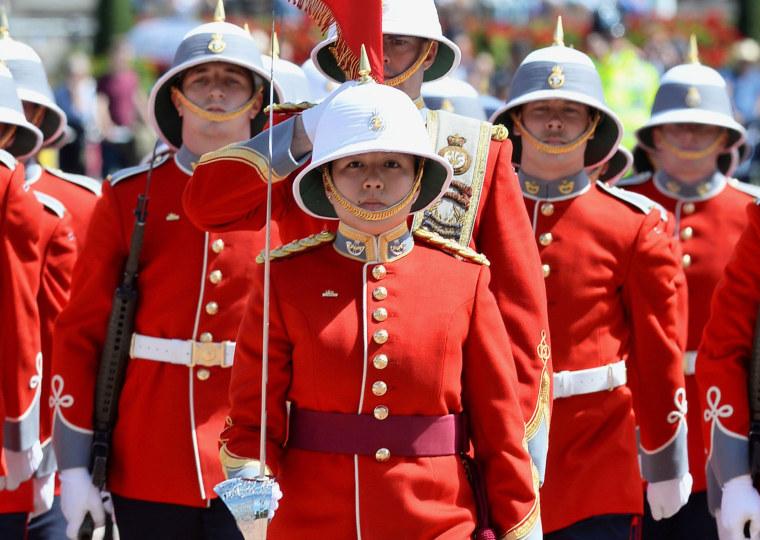 Image: Captain Megan Couto leads her battalion