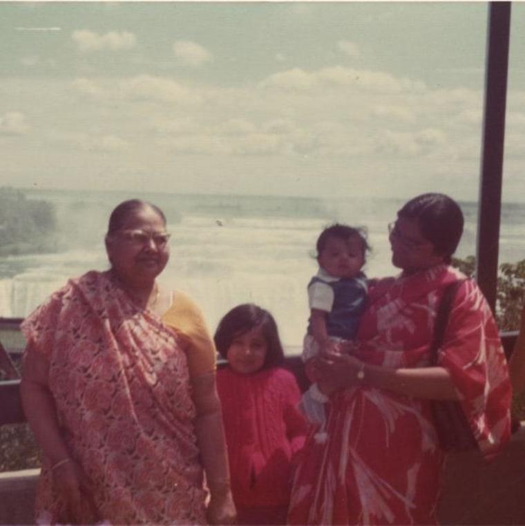 Jigna Desai with family members at Niagara Falls in 1975.