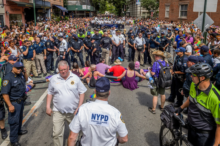 Image: NYC protesters arrested during the pride march