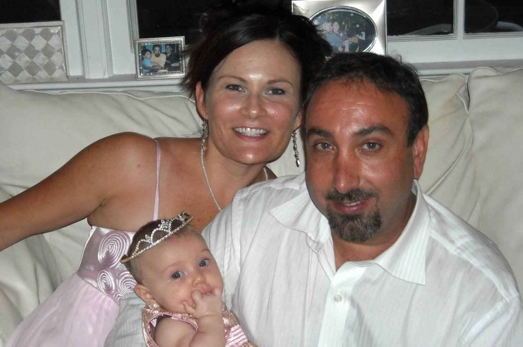 "Image: Kristie Reeves-Cavaliero,  left, her husband Brett, right, and their daughter Sophia Rayne ""Ray Ray"""