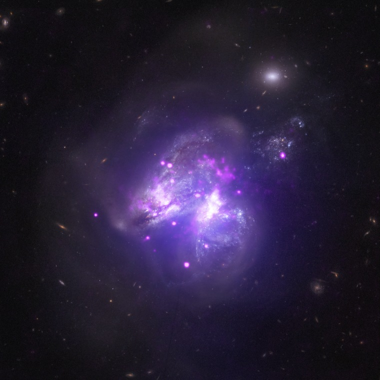 Image: Two galaxies merging