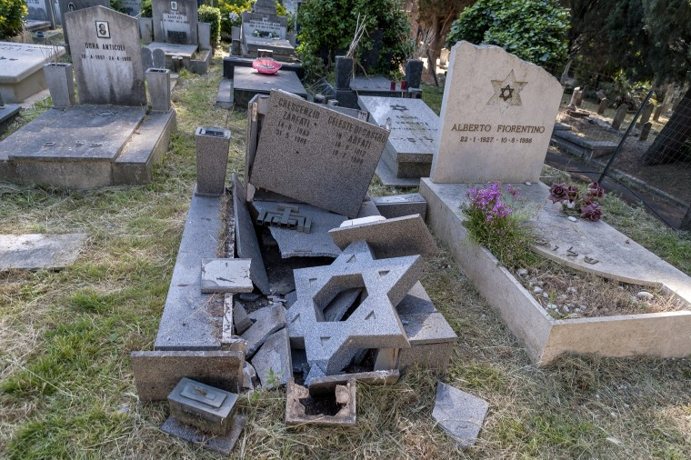 Image: Jewsish Tombstones Vandalised In Verano Cemetery