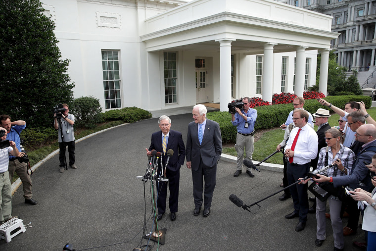 Image: President Trump Invites All GOP Senators To White House For Health Care Bill Discussion