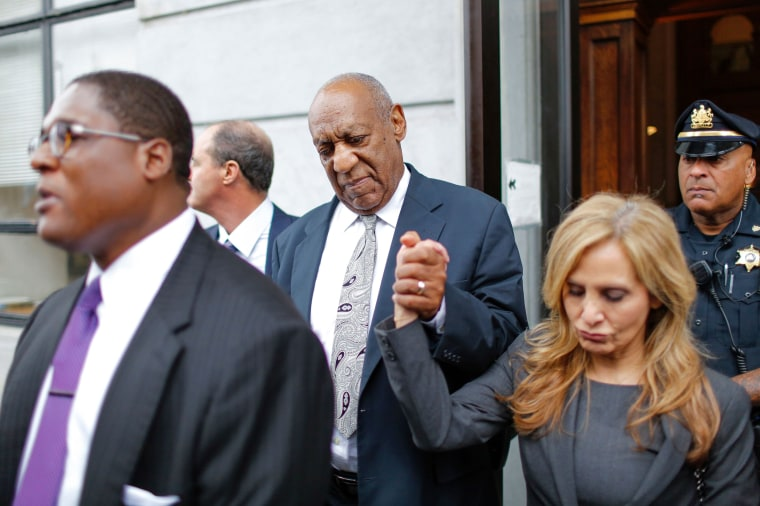 Image: Bill Cosby with Attorney Angela Agrusa