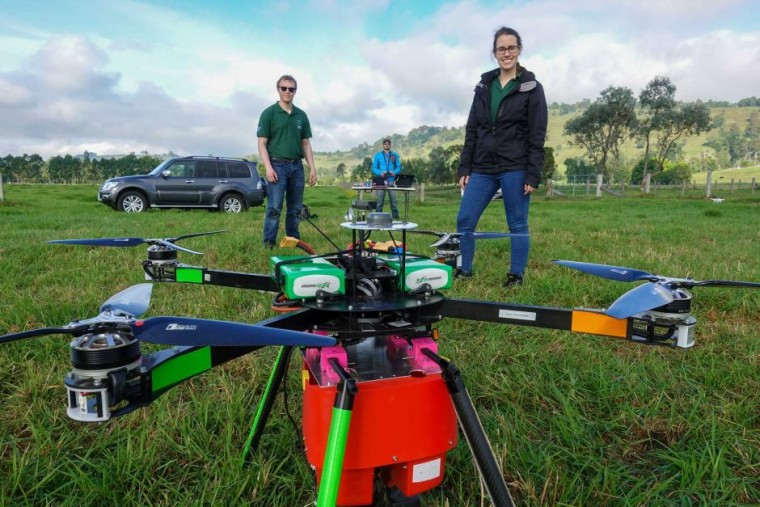 The drone team hopes to help with land restoration through their technology.