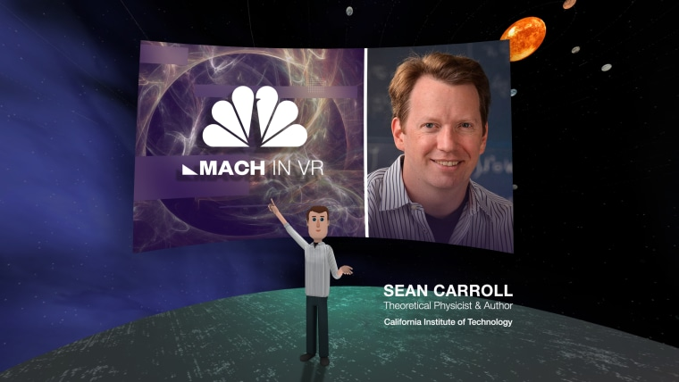 Sean Carroll's VR avatar