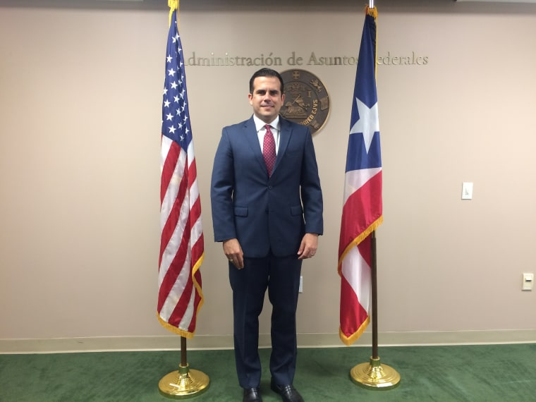 Puerto Rico Gov. Ricardo Rossello says the territory's problems are rooted in colonialism.