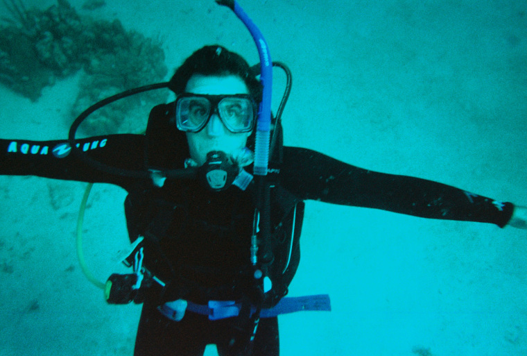 Dr. Lehnhardt learned to scuba dive to train to be an astronaut