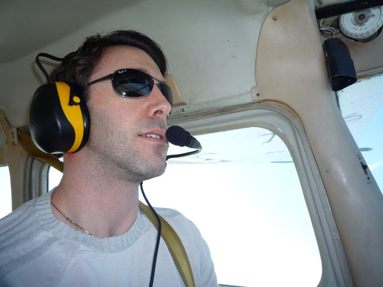 Dr. Kris Lehnhardt learning to be a pilot