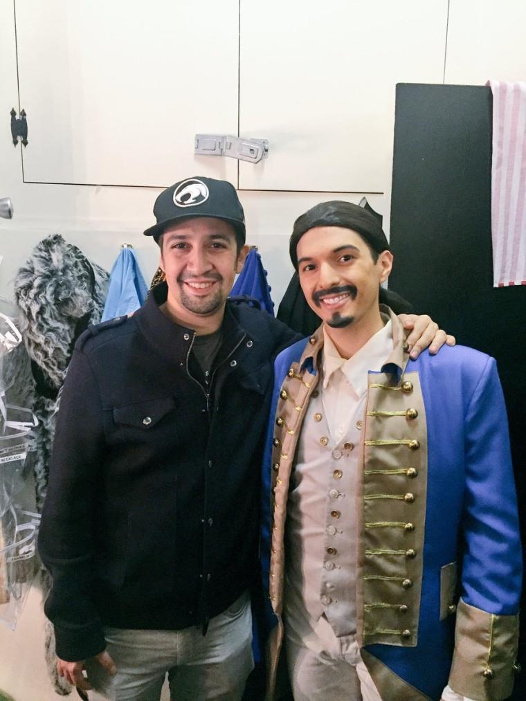Dan Rosales with his alter ego Lin-Manuel Miranda.