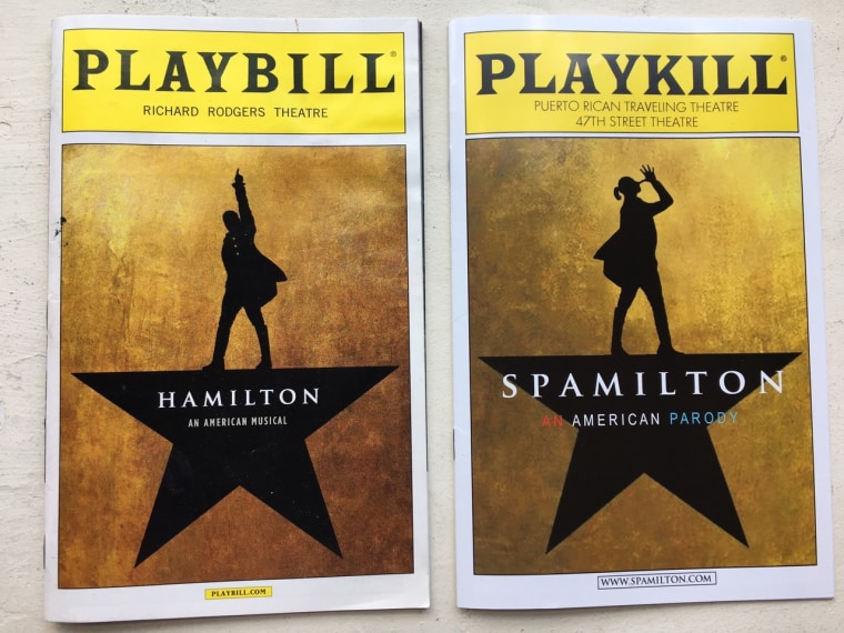 Which is which? A side-by-side comparison of programs for Spamilton and Hamilton.