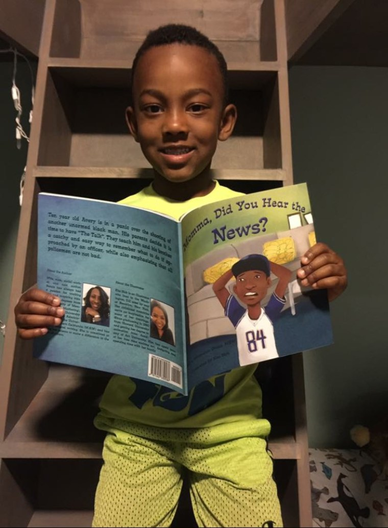 "Image: ""Momma, Did You Hear the News"" is a new children's book for black and brown boys."