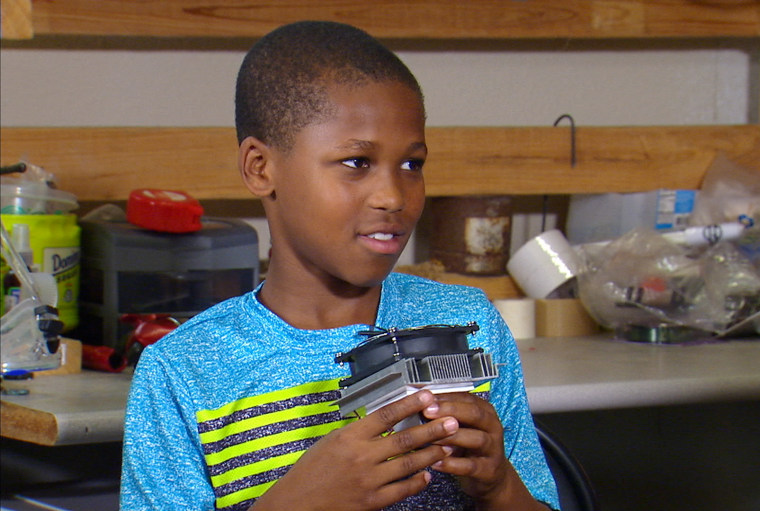 Image: Bishop Curry, 11, invented a device that would sense if a child is left alone in a car