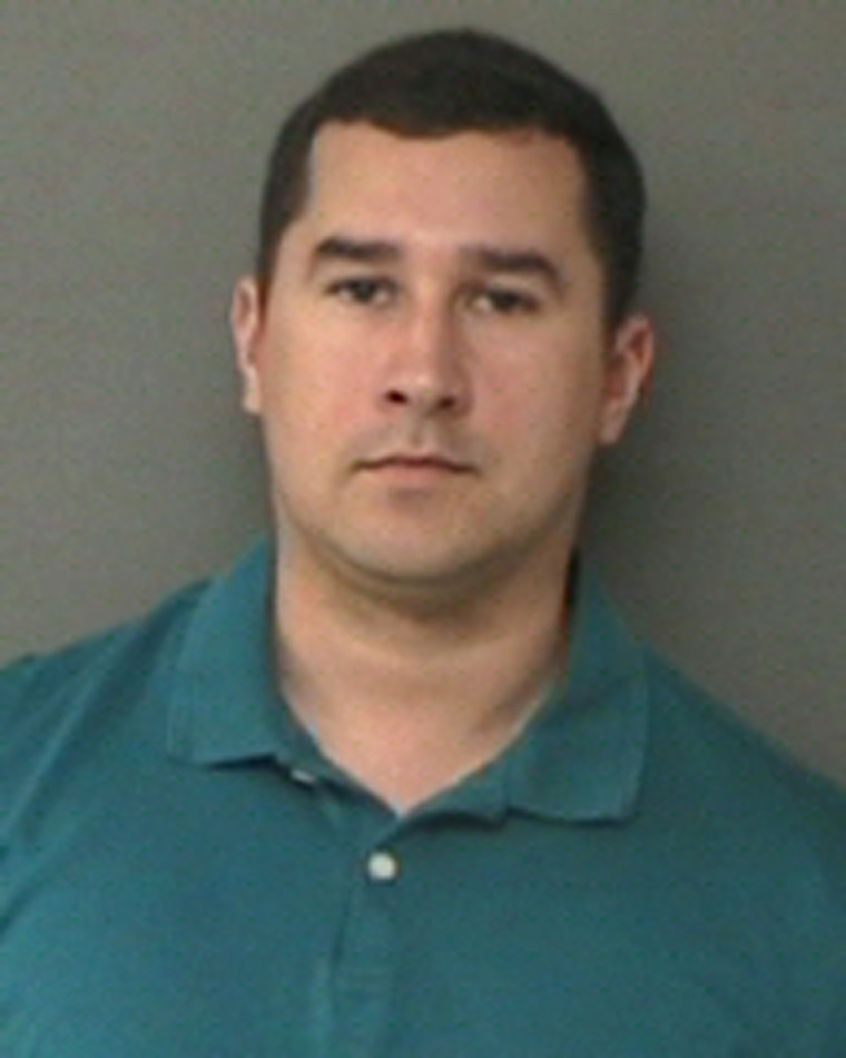 Former Texas State Trooper Brian Encinia after his arrest on a perjury charge on Jan. 7, 2016.