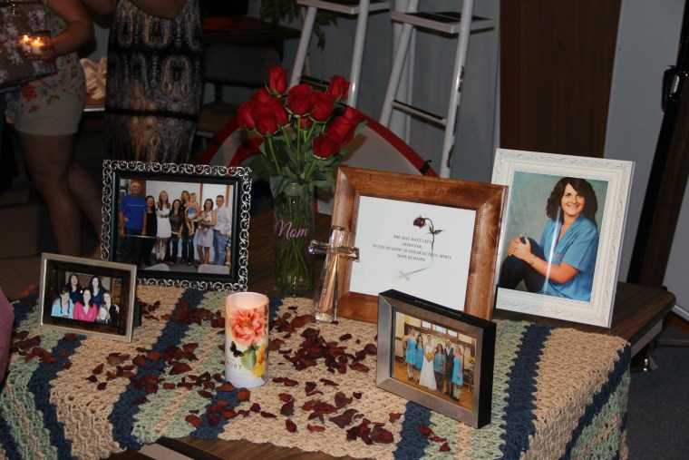 Photo memories from the one-year anniversary memorial service for Lori Heimer.