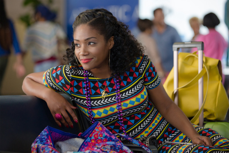 "Image: Tiffany Haddish, who plays Dina, in ""Girls Trip."""