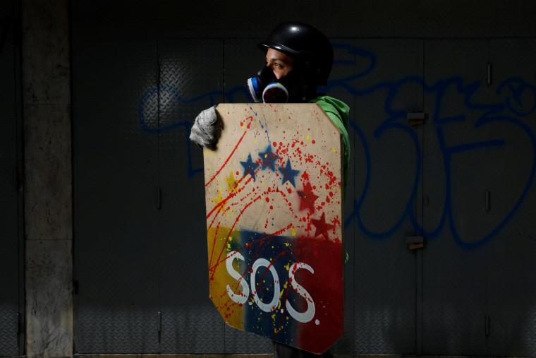 Image: Venezuela's shield-bearing protesters