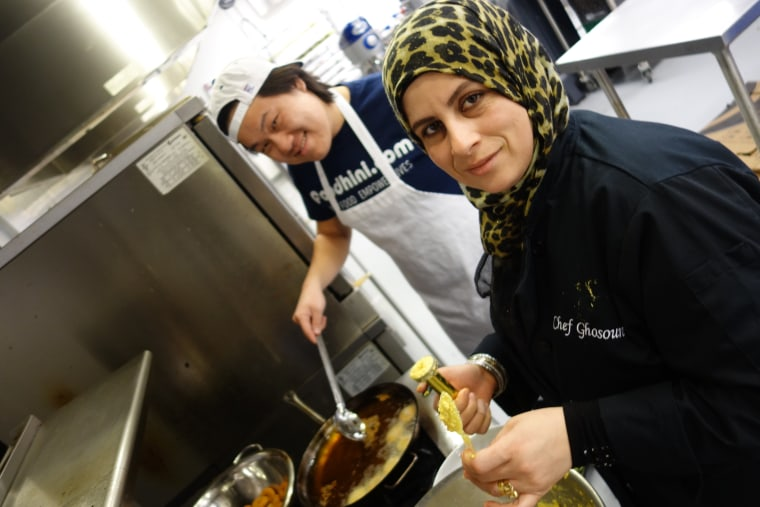 Vang with chef Ghosoun Alhumayer.