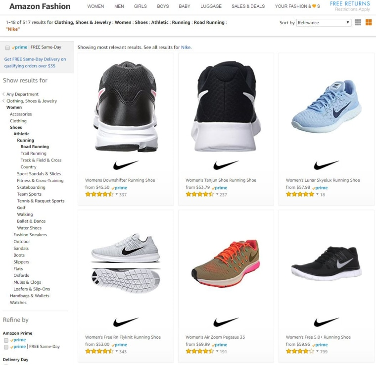 7fc179f0f60a3 Nike to Start Selling Shoes on Amazon