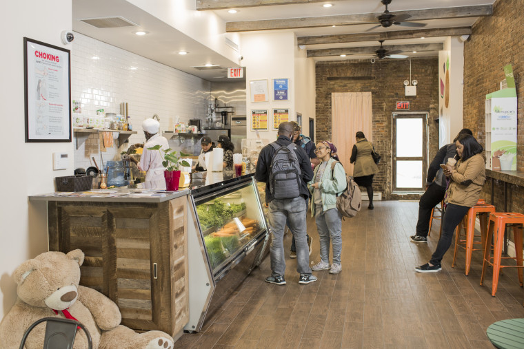 Image: Radio personality and DJ Angela Yee recently opened a juice bar called Juices for Life in Bed-Stuy.