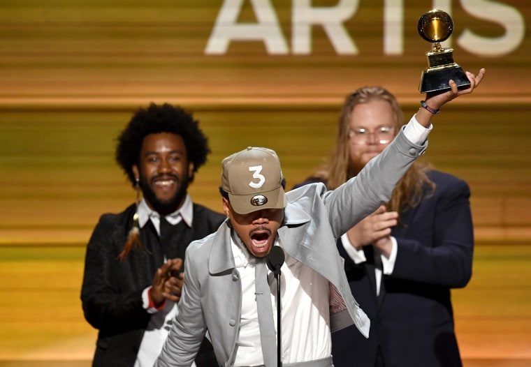 Image: Chance the Rapper Accepts Grammy at 59th GRAMMY Awards -  Show