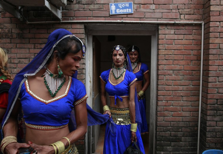 Image: Nepalese transgender women participate in the first national transgender dance competition in Kathmandu