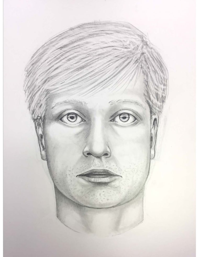 "Image: A composite sketch of the subject wanted in connection with a death, related to a ""road rage"" incident."