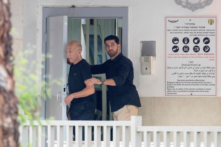 Image: ISRAEL-POLITICS-PRISON-OLMERT
