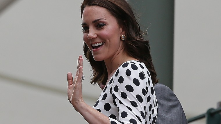 Former Kate Middleton, Duchess of Cambridge, at 2017 Wimbledon