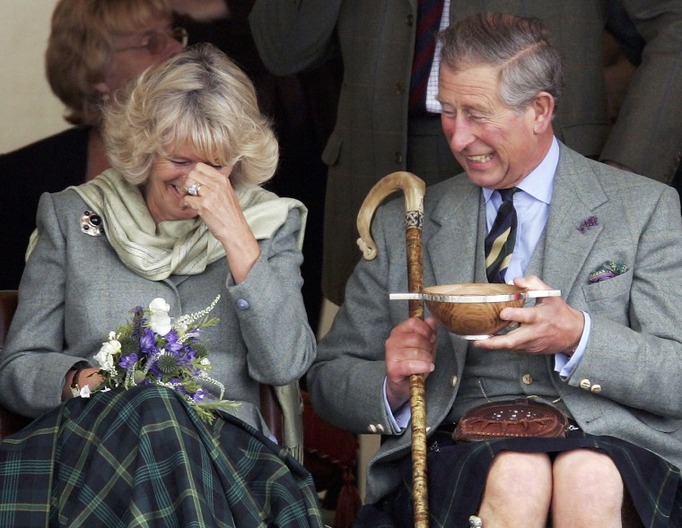 Prince Charles, the Prince of Wales, and his wife Camilla