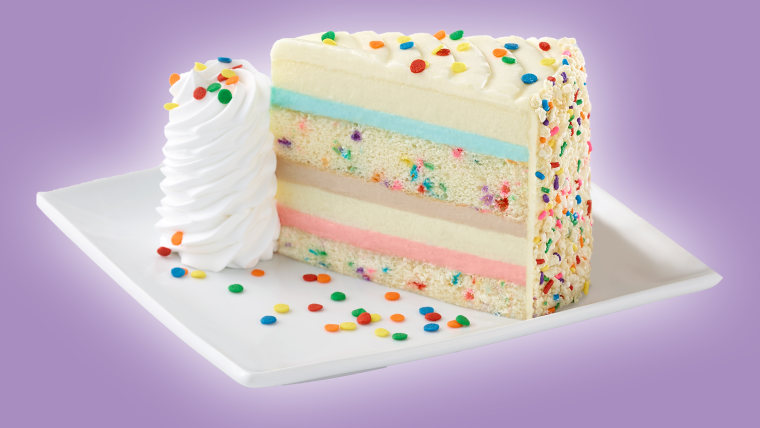 Cool The Cheesecake Factorys New Flavor Is Funfetti Funny Birthday Cards Online Alyptdamsfinfo