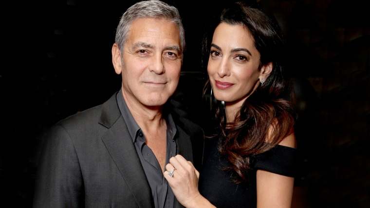 George and Amal Clooney in Los Angeles in 2016.