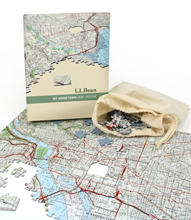 LL Bean My Hometown Map Puzzle
